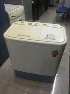 Mesin Cuci 2 Tabung Sanyo, Sehat, Siap Pakai