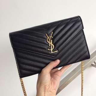 YSL / Saint Laurent Paris WOC Medium Wallet On Chain 22.5cm