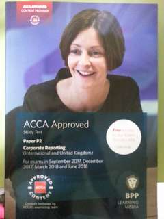 ACCA BPP P2 Corporate Reporting Study Text, Practice & Revision Kit