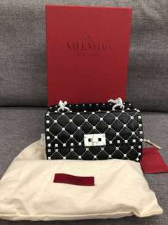 VALENTINO FREE ROCKSTUD SPIKE SMALL CHAIN BAG