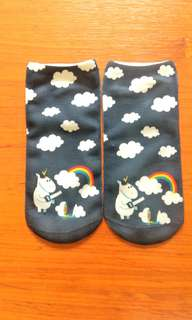 Unicorn inspired low cut ankle socks