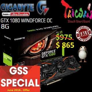 Gigabyte GTX 1080 WF  OC.