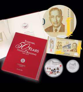 SG50 Commemorative note S6 With Silver Coin