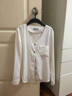 HVV long sleeve classic white top