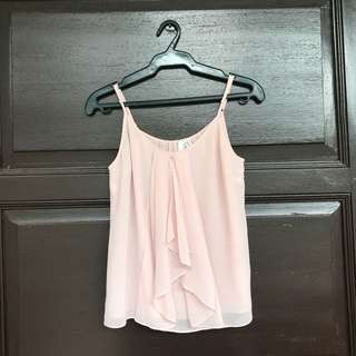 PRELOVED Ever New Pink Ruffle Spaghetti Strap Top