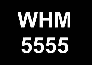 Plate Number WHM 5555