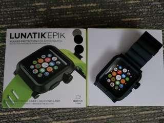 Apple Watch 42mm LUNATIKEPIK 黑色錶帶