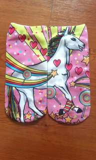 Unicorn inspired low cut socks