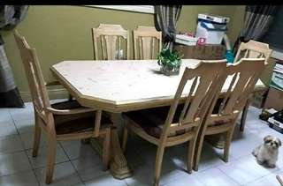Heavy duty 6 seaters dining table
