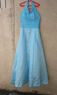 Light blue ball gown