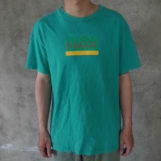 🚚 🌴90s藍綠色復古短袖T恤 男女皆可Vintage 日本帶回古著
