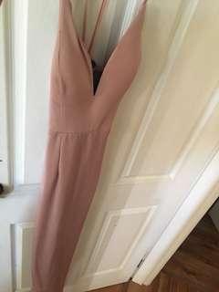 Baby pink formal dress