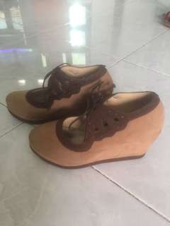 Custom Shoes Brown Wedges