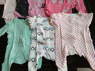 7pcs Newborn set bodysuits, sleepsuit