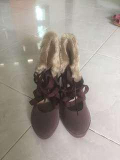 Ankle Heels Korean Shoes