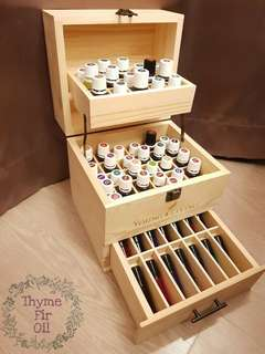 🚚 Essential Oil Wooden Storage Box