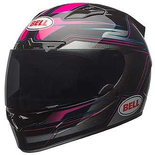 Bell Vortex SIZE SMALL ONLY Adult Full Face Street Helmet Marker Pink Black D.O.T. Certified Sports Bike Motorcycle Motorbike Girls Female Ladies Women Woman Women's Woman's Helmet - Pink Purple Black RARE