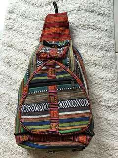 Tribal Bucket Backpack Convertable/Foldable Pouch #KayaRaya