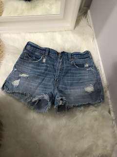 Abercrombie High Waisted Denim Shorts