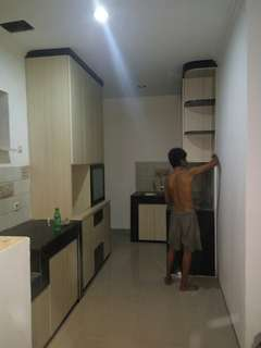 Kitchen sett, Lemari baju, lemari pakaian, backdrobe tv
