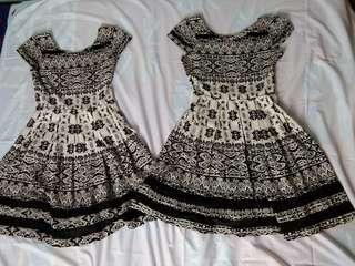 Dress Black n White Bagus Berkualitas Murah Bekas
