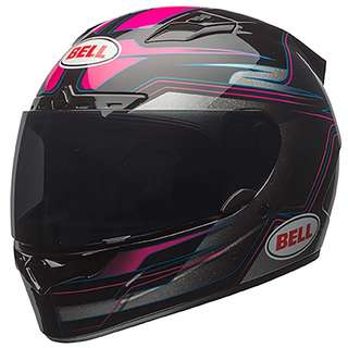 Bell Vortex Unisex Adult Full Face Street Helmet Marker Pink Black D.O.T.-Certified Motorcycle Motorbike Girl Girls Female Women Woman Women's Woman's Ladies Helmet