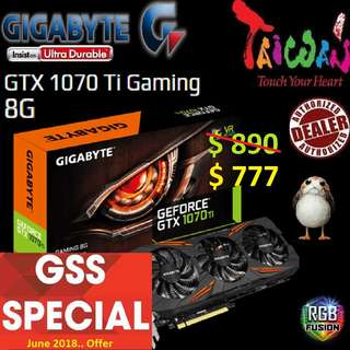 Gigabyte Gaming Series GTX 1070 Ti 8G.
