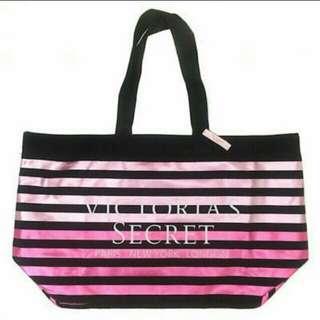 Victoria Secret Limited ED Pink Stripe Weekender Tote