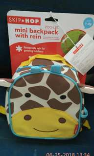 Skip hop mini backpack with safety harness