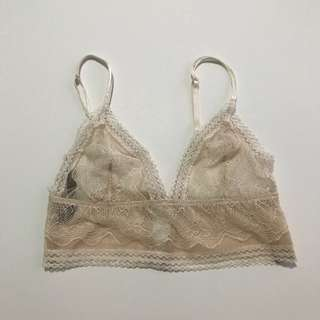 USED ONCE Authentic Victoria's Secret Mesh Coconut White Bralette