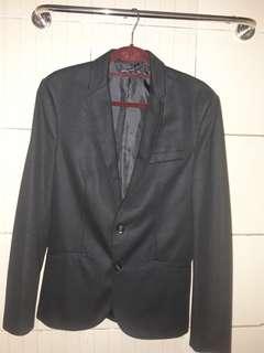 Zara Men Black Formal Coat