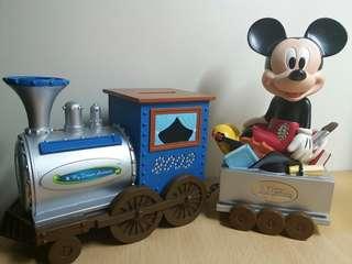 (8成新)渣打迪士尼米奇錢箱
