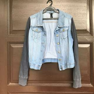 PRELOVED Factorie Denim Jacket with Jersey Sleeves