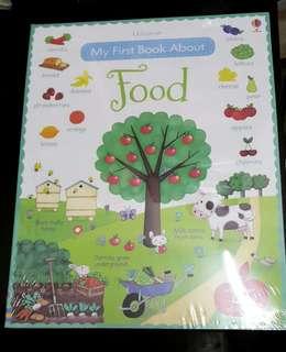 Children book - usborne my first book about food