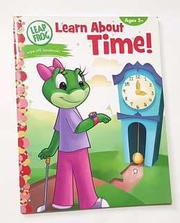Leap Frog Learn About Time Wipe-off Book