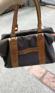 Leather Canvas Weekender Bag