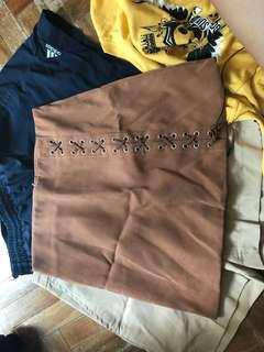 🚚 brown skirt high waist