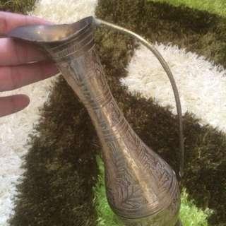 Vintage Vase Brass Antik
