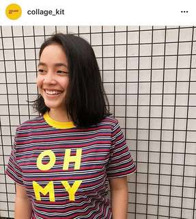 OH MY! Colorful Stripes T-Shirt by @collage_kit