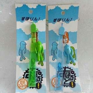 日本吉祥物手抽掛飾2條 包平郵