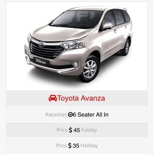 Rental Mobil Toyota Avanza Murah Batam