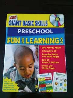 Preschool worksheets with CD