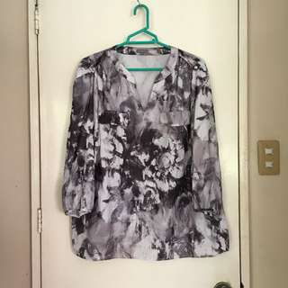 Plus size 3/4s corporate blouse