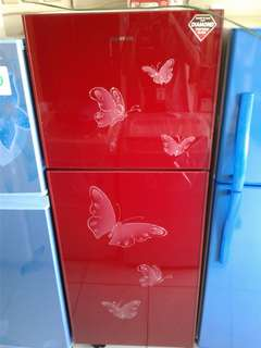 Kulkas Sanken cantik 2 pintu bisa kredit tanpa dp