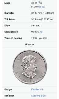 Silver coin bullion