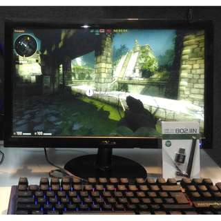 PC Gaming Desktop AMD A6 7400K / RAM 4GB / VGA R5 1GB & Monitor 17""