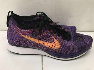 (100% LEGIT) NIKE FLYKNIT RACER ATOMIC PURPLE US10 9/10