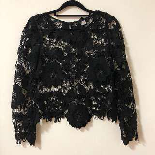 H&M Lace/Crochet Blouse