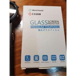 Exuun (2-Pack) Garmin Forerunner 935 Screen Protector Glass, 0.3mm Ultra-Thin 9H Hardness Anti-Fingerprint 2.5D Round Edge Watch Tempered Glass Screen Protector for Garmin 935