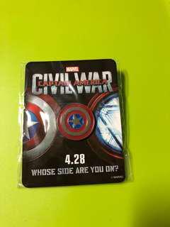 Captain American Pin 美國隊長襟章